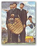 """Three Umpires by Norman Rockwell 14""""x11"""" Art Print Poster"""