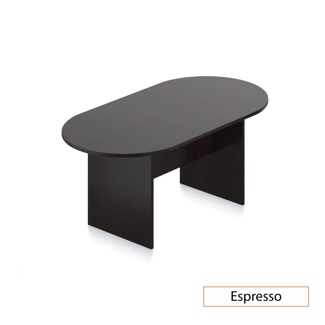 GOF 6 FT Conference Table, Cherry, Espresso, Mahogany, Walnut (6FT, Espresso)