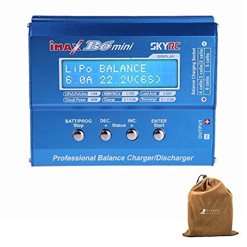 Balancing Battery Charger,FOME SKYRC iMAX B6 Mini Professional Balance Charger/Discharger for RC Battery Charging
