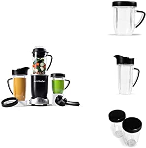 NutriBullet Rx Bundle with 30oz Mug, 45oz Pitcher and Set of 2 Resealable Lids