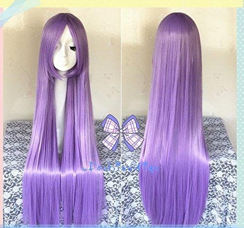 100cm Long Light Purple Saint Seiya Athena Cosplay Wigs, Long Costume Wigs for Party (Athena Wig)