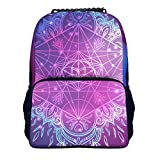VVEDesign Sprayground Backpack for Women Fashionable Waterproof Durable Daypacks Yoga lotus Schoolbag for Girls/Boys/Kids Holds 14-inch Laptop