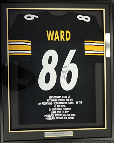 c877f67a585 PITTSBURGH STEELERS HINES WARD AUTOGRAPHED FRAMED BLACK JERSEY PSA/DNA  STOCK #101355