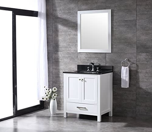 All-Wood Diamond White Shaker Vanity