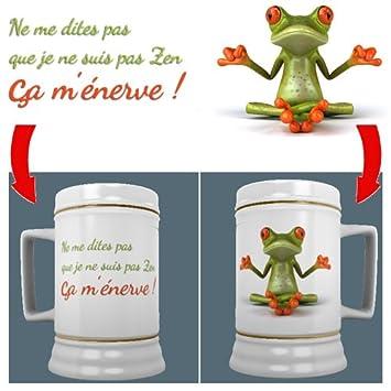 Image Creations Cadeau Humour Zen Chope à Bière En Céramique Hauteur