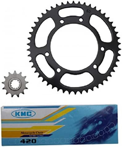 Kit cha/îne pignon 13 dents couronne 50 dents Yamasaki moto MBK 50 Xlimit 2004