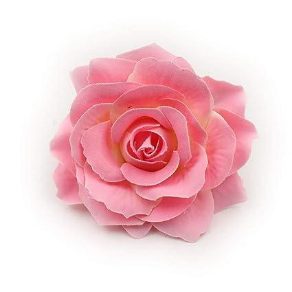 Amazon Artificial Flower Big Silk Blooming Roses Head Wedding