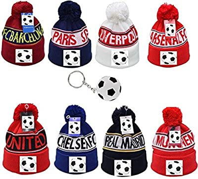 Sportsworld Barcelona Soccer Fan Beanie with Soccer Shaped Rain Poncho Ball ? All Weather Bundle ? All Clubs Available ? One Size Fits All