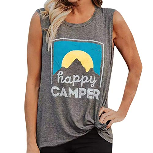 Women Tank Tops, Toponly Women's Sleeveless Letter Printed Tank Tops Cotton Vest Blouse T-Shirt Plus Size