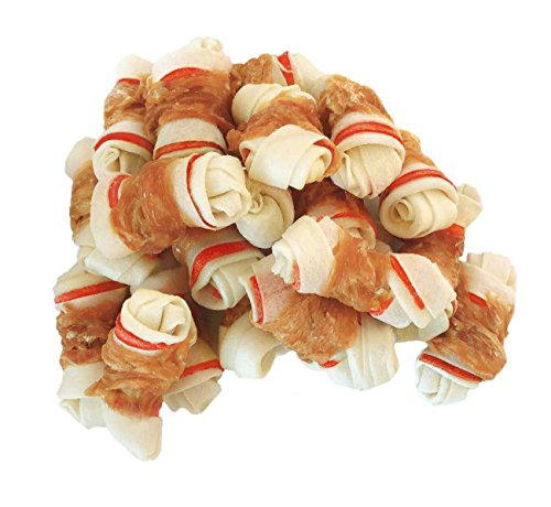 (Pawant Dog Treats Puppy Training Snacks Promotes Healthy Chewing Chicken Wrapped Knot 2.5