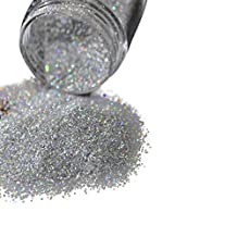 Coromose Holographic Nail Glitter Powder Dark Brown Coffee AB Nail Art DIY UV Shiny Glitter Dust Pigment 5g (Silver)