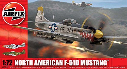 Airfix North American P-51D Mustang Airplane Building Kit, 1:72 - Modeler American Aircraft