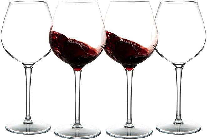 MICHLEY Incassable Verres à vin, 100% Tritan Plastique vin Rouge Gobelets,500ml Verres à Boire pour Le Parti, Lot de 4