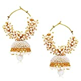 Bollywood Style Party Wear Traditional Indian Jewelry Gold tone Jhumki Jhumka Earrings for Women