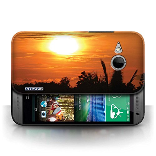 Etui pour HTC One/1 Mini 2 / ciel orange conception / Collection de Coucher du Soleil