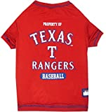 MLB TEXAS RANGERS Dog T-Shirt, X-Small. - Licensed Shirt for Pets Team Colored with Team Logos