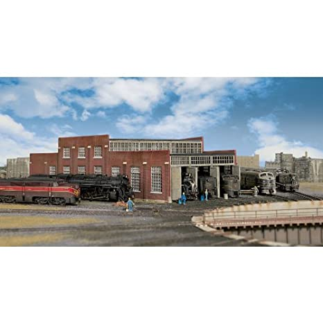 Walthers Cornerstone Series174 N Scale Modern Roundhouse 3 Add-On Stalls