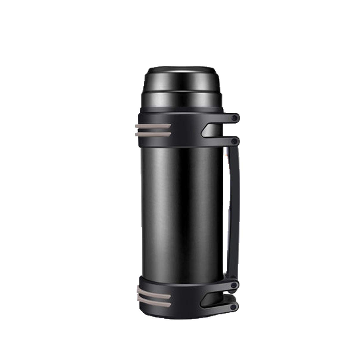 Thermos Cup, Large Capacity Insulation Pot for Men and Women, Thermos Bottle, Outdoor Portable Car Travel Bottle, 2L L 1000ml, Black, Silver, Blue, Red (Color : Black-2000ML)