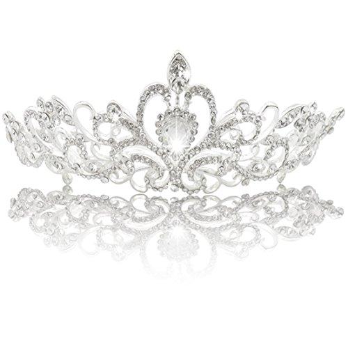 Jmkcoz Wedding Coronal Tiara Rhinestones Crystal Bridal Headband - Crystal Tiara