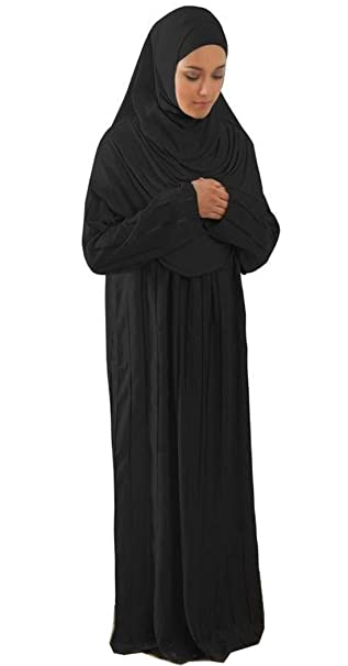 7b51eb1eea8e1 Amade Muslim Women's One-piece Prayer Dress Abaya Ihram Set for Hajj Umrah