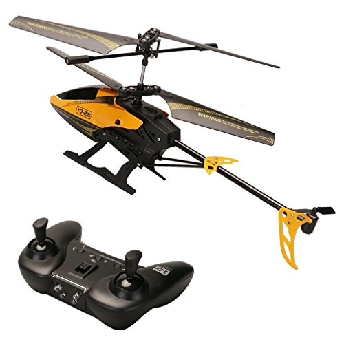 ATTOP YD-218 3 Channel Infrared Remote Control Helicopter with Built-in Gyro Mini RC Heli with Smoothly Hovering Performance (Orange)