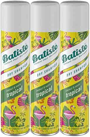 Batiste Dry Shampoo, Tropical Fragrance, 3 Count