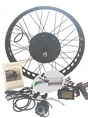 Conversion 4 Speed (theebikemotor 48V1000W 4.0 Fat Rim Electric Bicycle E Bike Hub Motor Conversion kit + LCD (24