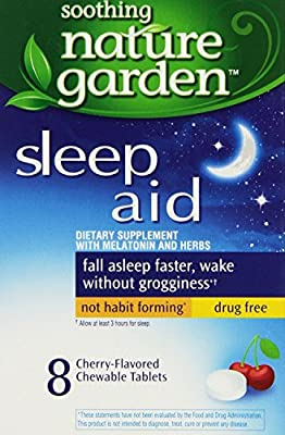 Sleep Remedy 8ct Chewable Tablets by Nature Garden (Pack of 12) Total of 96 Tablets