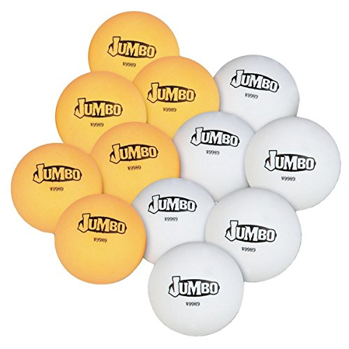 S&S Worldwide PB148 Jumbo Table Tennis Balls (Pack of 12) by S&S Worldwide