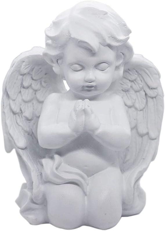 Kneeling Praying Cherub Angel Statue Figurine Indoor Outdoor Home Garden Guardian Decorative Church Wings Angel Statue Sculpture Memorial Statue White 6 25 X 5 Garden Outdoor Amazon Com