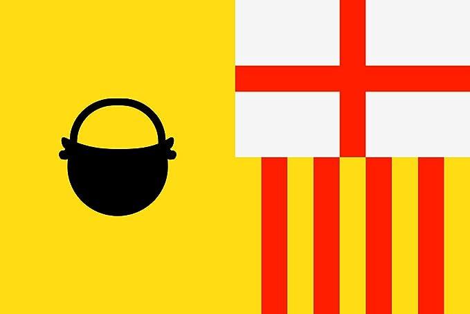 magFlags Bandera Large Caldas de Montbui, Barcelona, España | Bandera Paisaje | 1.35m² | 90x150cm: Amazon.es: Jardín