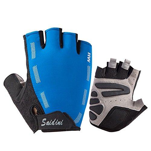 QIDI-gants Sport Amoureux Saison D'été À L'extérieur Escalade Protection Résistant À L'usure Gants De Fitness (Couleur : Bleu, taille : M)