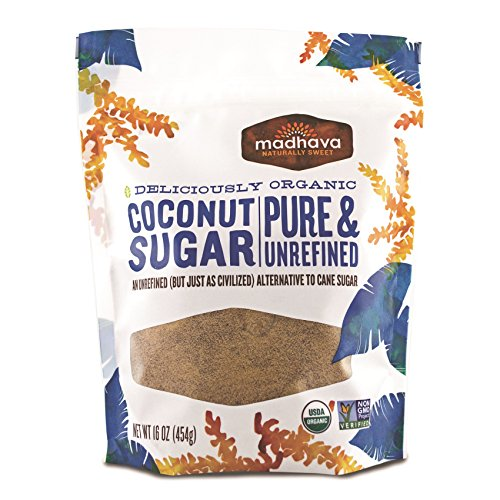Madhava Naturally Sweet Organic Pure & Unrefined Coconut Sugar, 16 Ounce (Pack of - Palm Coconut