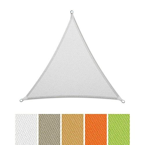 casa pura® Sonnensegel wasserabweisend imprägniert | Dreieck gleichseitig | UV Schutz | verschiedene Farben und Größen (weiß, 3x3x3m)