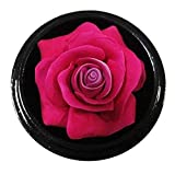 Thai Hand-Carved Soap Flower, 4 Inch Scented Soap Carving, Pink Rose In Decorative Wood Case