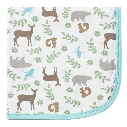 Touched by Nature Organic Receiving Blanket, Forest, One Size ()