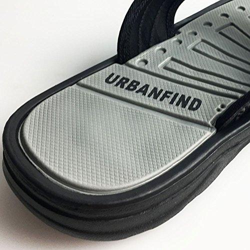 URBANFIND Herren Klassische Flip-Flops Sommer Leichte Slipper Thong Sandalen Grau