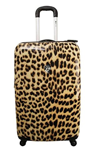 ... 50% SALE ... PREMIUM DESIGNER Hartschalen Koffer - Heys Novus Art Leopard Light Trolley mit 4 Rollen Medium
