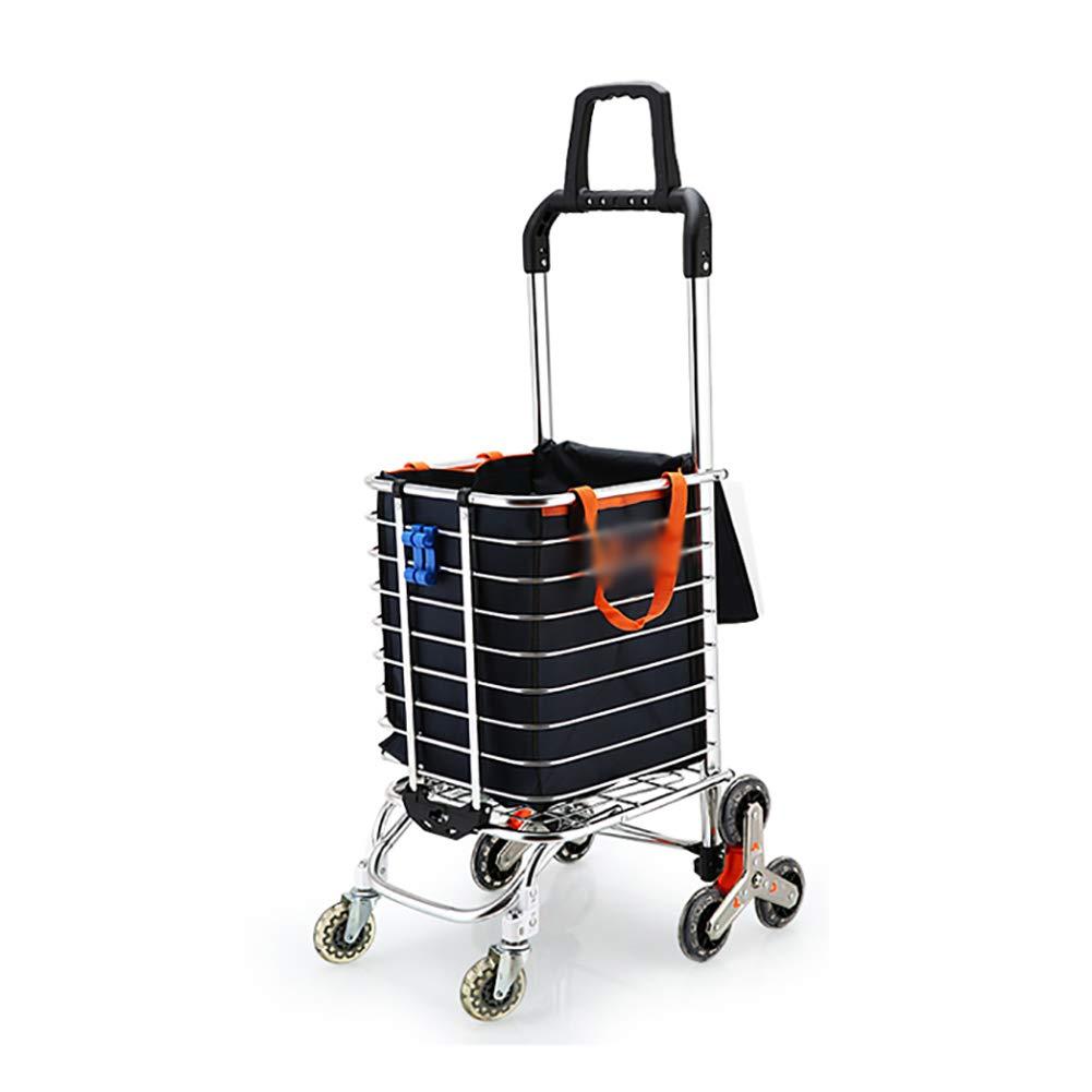 Shopping cart Shopping Cart Small Cart Climbing Stairs Folding Portable Household Trolley Cart Aluminum Alloy Trolley HYDTSH