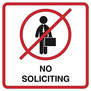No la solicitud de aviso rojo negro blanco ventana casa oficina comercial signos plástico 12x 12cuadrado Sign