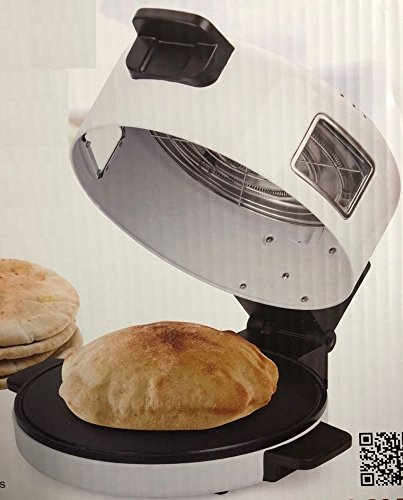 Electric Arabic Persian Middle Eastern Pita Bread Maker 11.5'' 1500-W Non Stick Toaster Saj Tortilla Pan