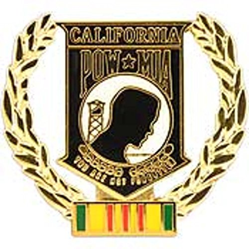 - POW MIA Vietnam California with Wreath Pin 1 5/16