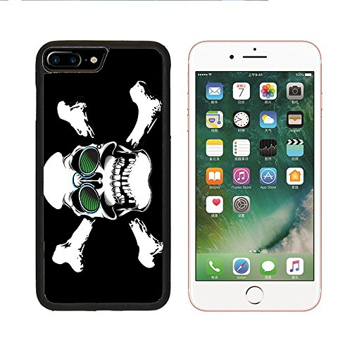 Para Apple iPhone 66S, 7Plus Funda impresión en playera Calavera anteojos Pince-Nez estor (negro), iPhone 6 Plus
