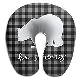 Scorpio Plaid Bear Buffalo Super Soft Travel Pillow Spa U SHAPE For Car Adult