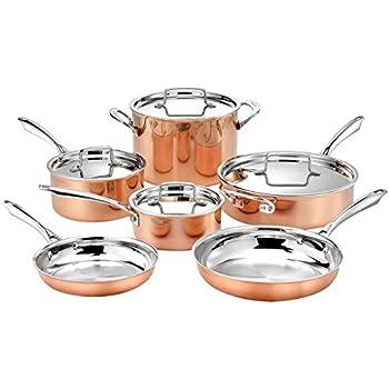 Amazon Com Calphalon Tri Ply Copper 10 Piece Set Copper