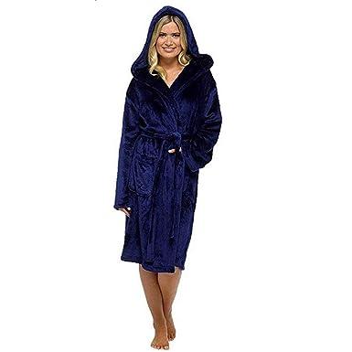 POLP Albornoz Mujer Unisex Parejas Batas Albornoz para Mujer Súper Suave camisón Largo Abrigo Albornoz Mujer