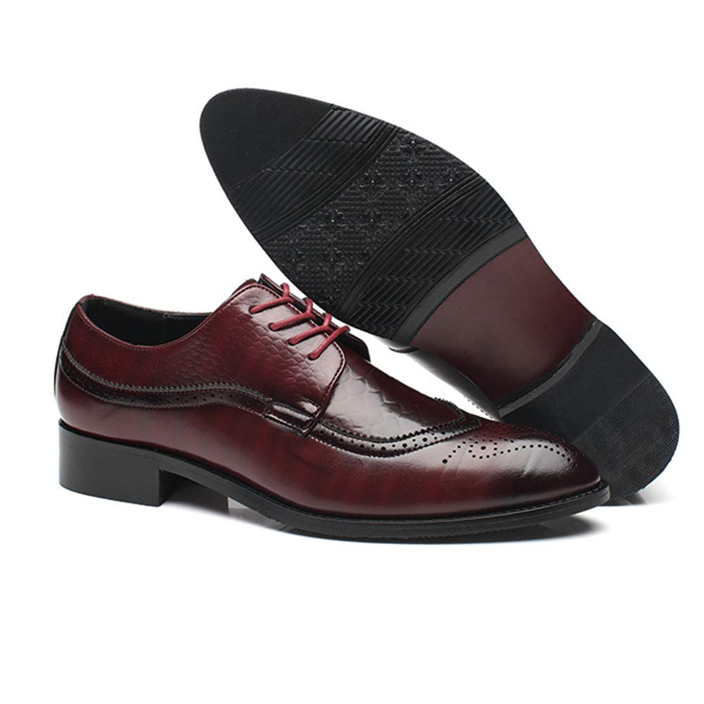 online store bc77b 18ba5 ... Dolwins Men s Formal Leather Oxford Point Toe Dress Dress Dress Shoe  45 10.5 D( Nike ...