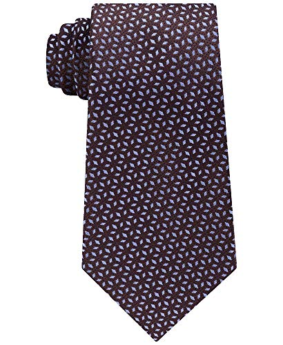 Michael Kors Men's Pindot Ground Diamond Silk Tie (Brown, ONE SIZE) ()