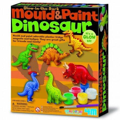 Barrutoys Kit de MODELAR y Pintar 4M para fabricar IMANES Pins de Dinosaurios Manualidades Ni/ños 5 a/ños