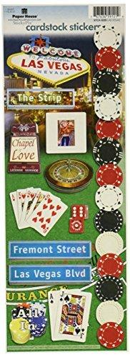Las Vegas Cardstock Stickers - Paper House Productions STCX-0029E Travel Cardstock Stickers, Las Vegas (6-Pack) by Paper House Productions